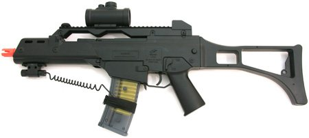 Spring Double Eagle M41 Assault Rifle FPS-280, Laser Sight, Red Dot, Shoulder Strap Airsoft Gun
