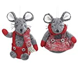 Mouse Christmas Ornament Pair