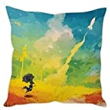 StyBuzz Cushion Cover - Abstract Art Painting Multicolour