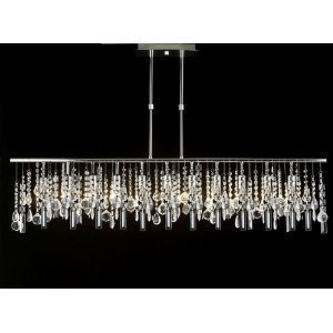 Modern Contemporary Linear Crystal Chandelier Chandeliers Lighting Lamp Ceili
