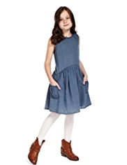 Pure Cotton Chambray Dress