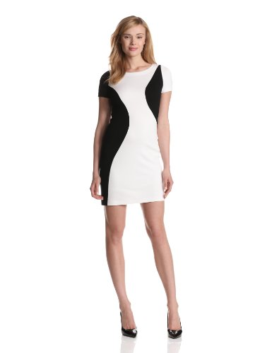 Yoana Baraschi Women's Night and Day Body Dress, White Nite/Black, 12