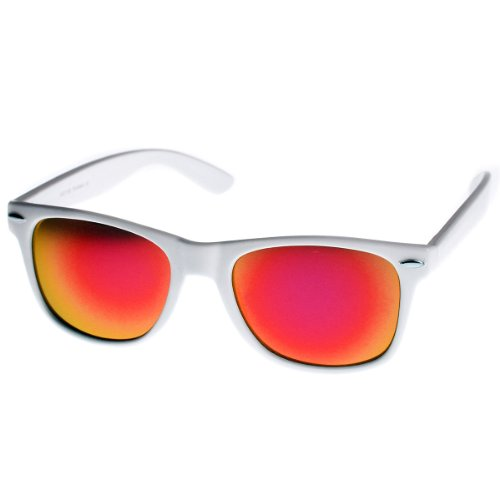 eb43c5b19d3 zeroUV - Hipster Fashion Flash Color Mirror Lens Horn Rimmed - Import It All