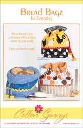 Cotton Ginnys Patterns Bread Bagz For Everyday; 3 Items/Order