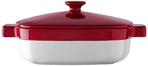 KitchenAid KBLR19CRER Streamline Ceramic 1.9-Quart Casserole Bakeware - Empire Red (Red Kitchenaid Microwave compare prices)