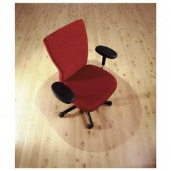 Cleartex UltiMat Polycarbonate Smooth Back Chair Mat for Hard Floors, Clear, 49 x 39 Inches (129919SR)