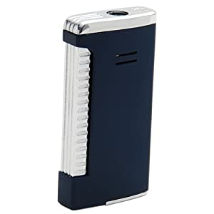 Cigar Savor Torch Lighter with Punch Cutter Blue