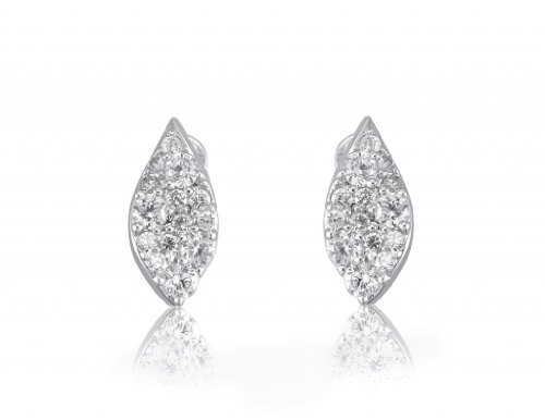 Lifestyle Infinity Lifestyle Clear Cubic Zirconia Drop Earrings For Women (E204008R) (Transperant)
