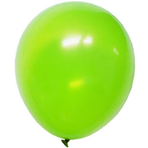 "9"" Lime Green latex balloons - 1"