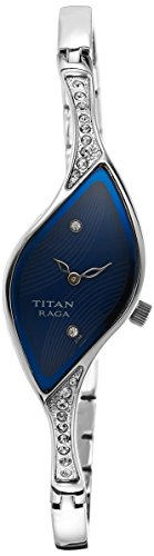 Titan analog Blue Dial Women's Watch – 9710SM01