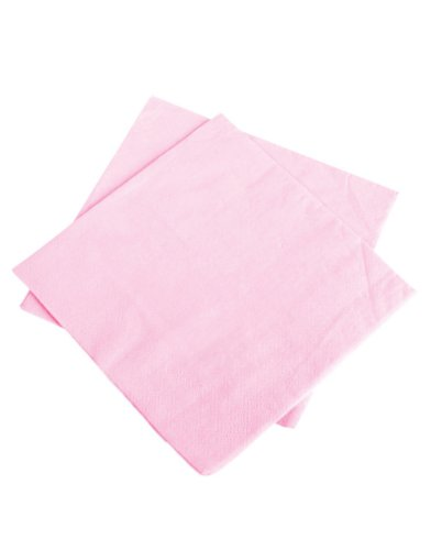 Lot Of 50 Light Pink Lunch Party Paper Napkins - 6.5""