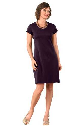 Fair Indigo Scoop Neck Fair Trade Organic Dress