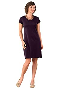 Fair Indigo Pima Organic Cotton Scoop Neck Dress