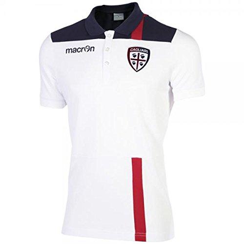 Cagliari Calcio polo bianca 2016/17 Macron (taglia L)