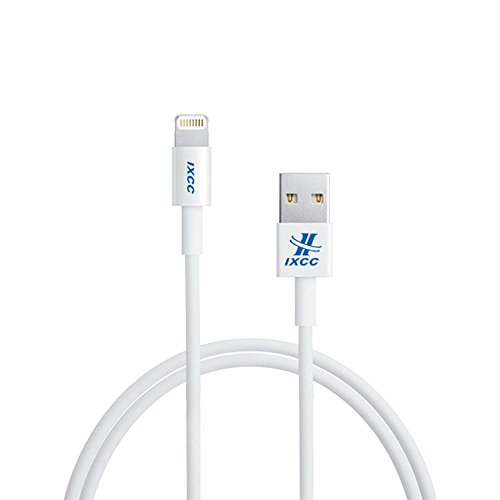 [Apple MFI Certified] iXCC ® Lightning Cable 3ft (Three Feet) Element Series 8 pin USB SYNC Cable Charger Cord for Apple iPhone 5 / 5s / 5c / 6 / 6 Plus / iPod 7 / iPad Mini / Retina / iPad 4 / iPad Air [White]