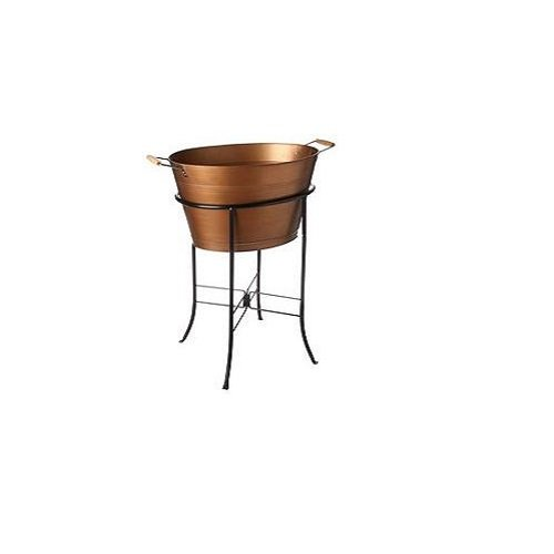 Artland Oasis Oval Party Tub with Stand, Antique Copper 0