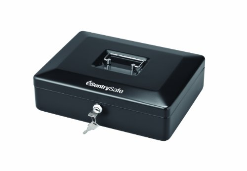 SentrySafe CB12 Medium Cash Box, Black
