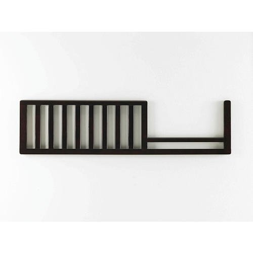Lajobi Newcastle Convertible Guard Rail, Espresso