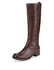 Footglove™ Leather Riding Boots with STRETCH ZIP™