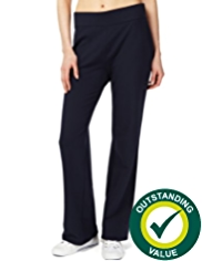 M&S Collection Cotton Rich Straight Leg Joggers with StayNEW™