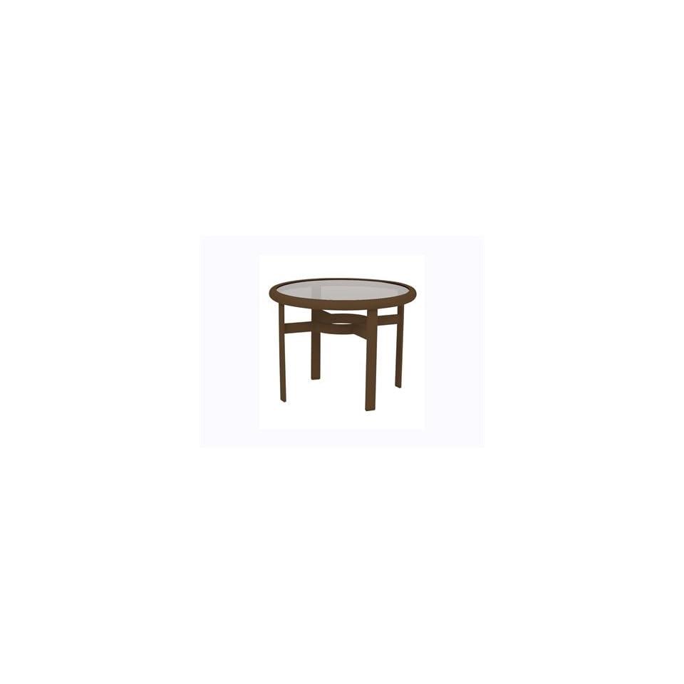 Tropitone Acrylic & Glass Cast Aluminum 24 Round Patio Coffee Table