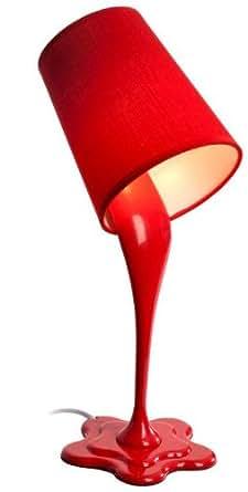 tischlampe pot ausgekippter farbeimer als lampe rot. Black Bedroom Furniture Sets. Home Design Ideas