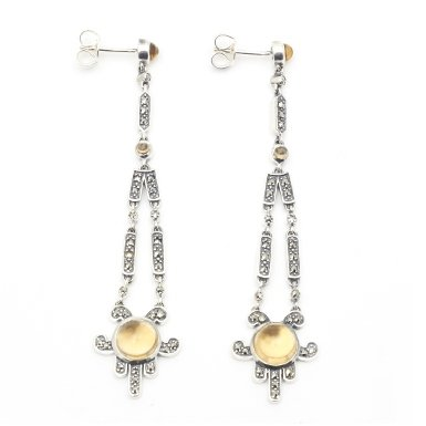 Art Deco Citrine Earrings