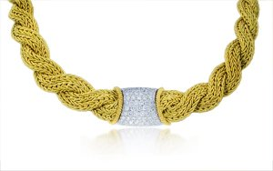 Harpo's Diamond 18k Two Tone Gold Necklace