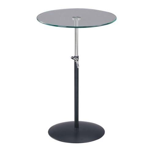 Black Steel Coffee Table Legs: Adesso Soho Adjustable Table Legs, Black/Steel