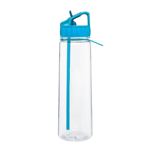 Flip Straw Spout - Tritan - Sport Water Bottle - 30Oz. Capacity - Aqua front-559416