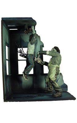 Mezco Toyz Cinema of Fear Screen Grabs Series 2 Diorama The Texas Chainsaw Massacre[Nightime Version]