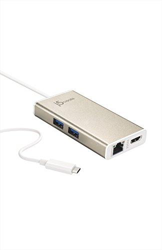 【国内正規代理店品】J5 create USBType-C Power Delivery対応マルチアダプター ギガビットイーサ HDMI USB3.0×2ポートハブ MacBook最適 JCA374A