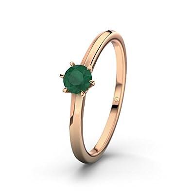 21DIAMONDS Córdoba Women's Ring Emerald Cut Engagement Ring, 18K Rose Gold Engagement Ring