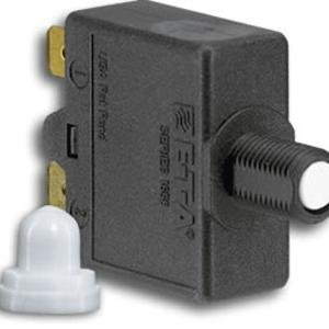 Thermal Push to Reset Circuit Breaker 15 Amp Single Pole
