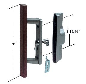 Sliding glass patio door handle set with internal lock for for Non sliding patio doors