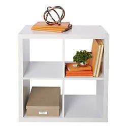 Brenton Studio Cube Bookcase, 4-Cube, White