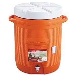 Rubbermaid - Rhp 1610 Org - Insulated Beverage Container, 16 Dia. X 20 1/2H, Orange front-633167