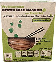 GLUTEN FREE Vietnamese Brown Rice Noodles with Organic Green Tea - JUST NOODLES, 8.6 oz, 4 SERVINGS per box (Pack of 6) (Star Anise Foods compare prices)