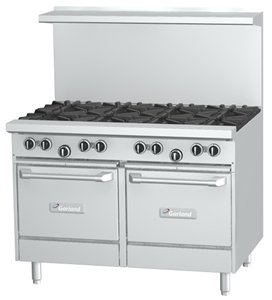 """Garland G48-8Ll Commercial Gas Range - Restaurant Series 48""""W, 8 Burners, 2 Space Saver Oven"""
