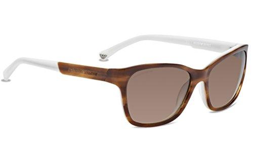 Emporio Armani Ea4004 Sunglasses-504713 Brown/Cream (Brown Grad Lens)-56Mm
