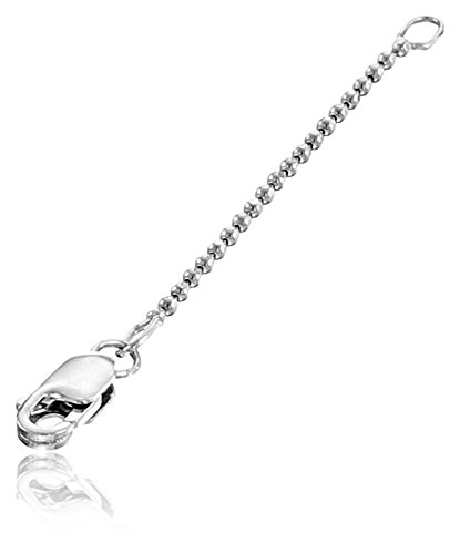 Alex Woo Sterling Silver Mini 1.2mm Chain Pendant Enhancer, 2""