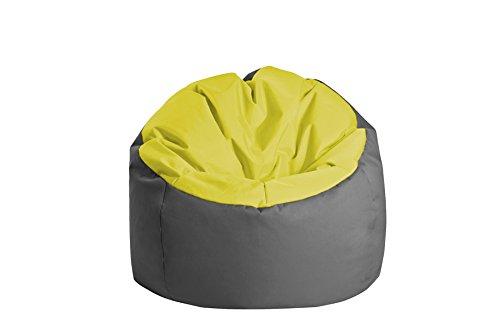 Jumbo Bag 30170–30reposapiés Globe poliéster color verde y gris 70x 70x 70cm)