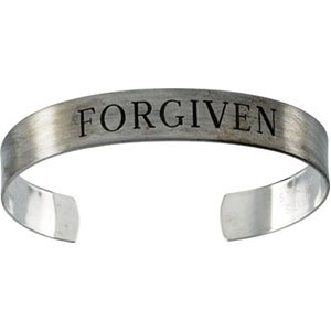 Antiqued Sterling Silver Forgiven Cuff Bracelet