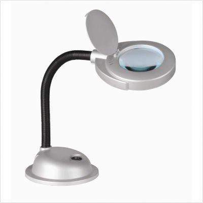 Baby Magnify-Lite Gooseneck Desk Lamp in Silver