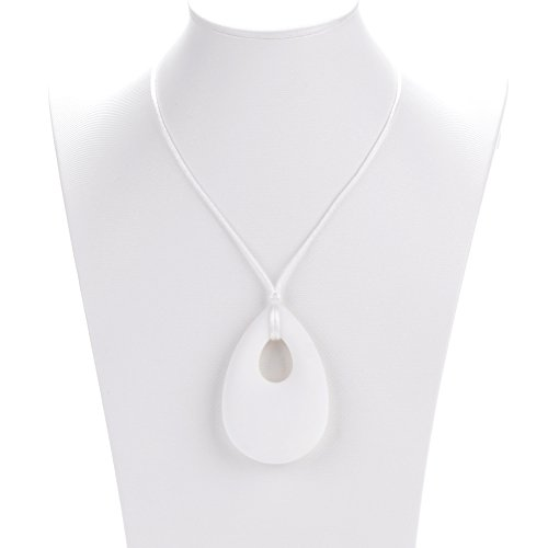 Consider It Maid Baby/Toddler Silicone Teething Necklace - White - The Tear Drop Pendant Collection