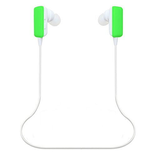 Best_Express Mini Lightweight Wireless Stereo Sports/Running & Gym/Exercise Bluetooth Earbuds Headphones Headsets W/Microphone For Iphone 5S 5C 4S 4, Ipad 2 3 4 New Ipad, Ipod, Android, Samsung Galaxy, Smart Phones Bluetooth Devices (Green-Newmodel)