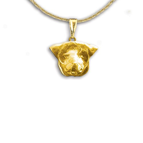 14K Gold Rottweiler Pendant By The Magic Zoo