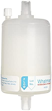 Whatman 2712M Polycap HD 75 Polypropylene Capsule Filter with MNPT Inlet and Outlet, 60 psi Maximum Pressure, 5.0 Micron (Pack of 5)
