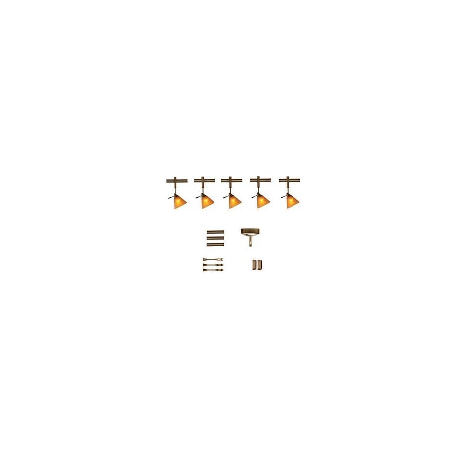Easy Track Lighting Kit: Tiella 800RAL5 5 Light Sola Rail Easy Track Lighting Kit