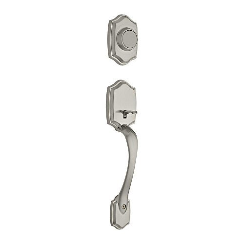 Belleview Exterior Double Cylinder Entrance Handleset Finish: Satin Nickel Kwikset